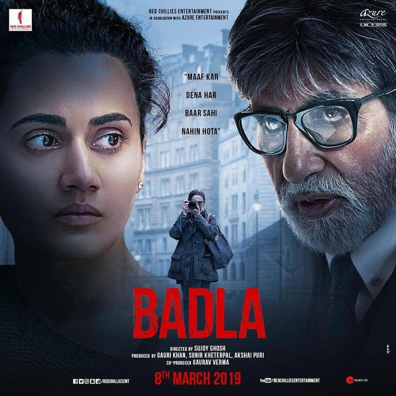 After Pink, acting again with Big B Amitabh Bachchan: This is a crime mystery thriller film. Tapsee plays a successful businesswoman who lives a perfect life with her family. But the plot unfolds as her world turns upside down when she is arrested for the murder of her secret lover. In this film too, Amitabh Bachchan fights Tapsee's case. But both Tapsee and Big B make you sit on the edge of the chair.