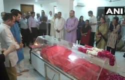 Sushma Swaraj condolance