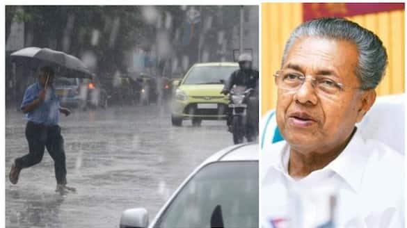 hief minister pinarayi vijayanabout flood relief camps in kerala