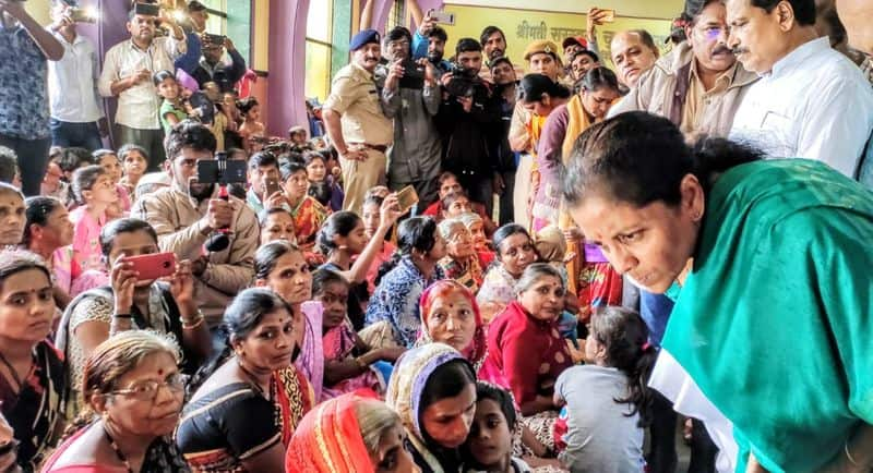 She reviewed the situation of the state and assured the flood victims that all asnsistance from the Central government will be done. Over 2 lakh people have been evacuated from flood-hit and rain-affected areas of Karnataka