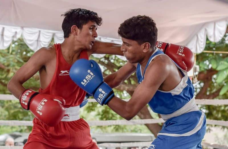 Belagavi flood Silver medalist Nishan manohar swims 45 minutes to attend boxing event in bengaluru