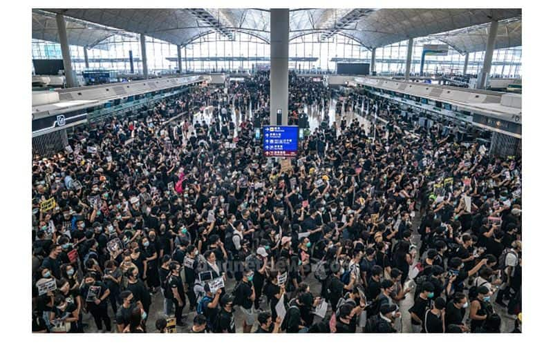 China Military Crackdown In Hong Kong Airport Spell Terrible