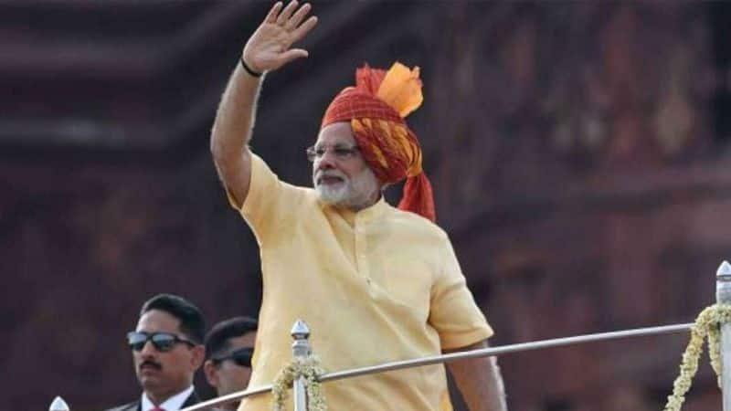 यह तस्वीर साल 2017 की है। जब कत्थई और पीले रंग की प्रधानमंत्री की पगड़ी हर तरफ चर्चा का विषय बनी थी।