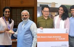 PV Sindhu, PM Modi, Kiran Rijju