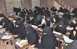 Girls were changing clothes in madrasa room, teacher was watching from CCCT