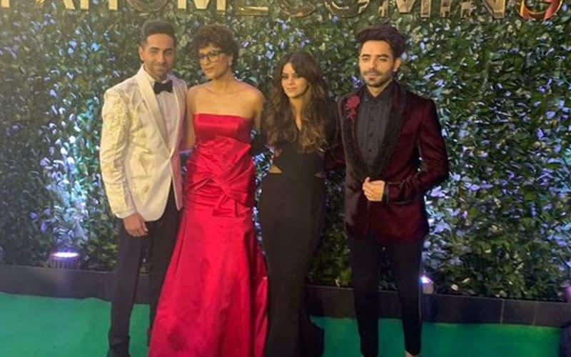 Ayushmann and Aparshakti too turned up at the big night looking great with their leading ladies by their side.