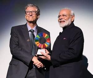 Narndra Modi conferred Global Goalkeeper award for Swachh Bharat Abhiyan