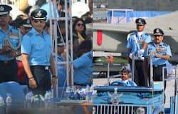 Sachin Tendulkar arrives at Hindon Air Force Station in Ghaziabad on Indian Air Force Day