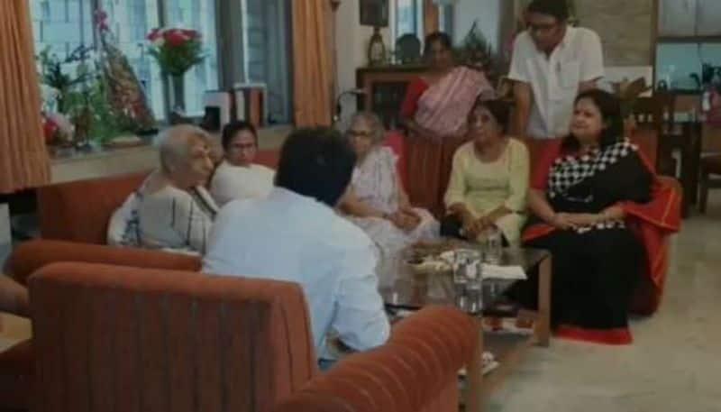 CM Mamata Banerjee visits nobel-laureate Abhijit Banerjee's mother in kolkata on Wednesday