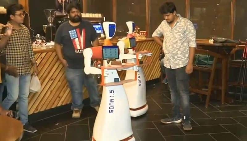 In Odisha's first robotic restaurant, two Robots Take Orders Serve Customers
