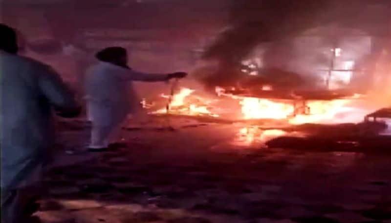 Pakistan, Fire breaks out at Gurdwara Panja Sahib