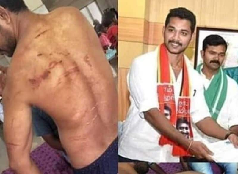 nam thamizhar party member was attacked by tollgate workers