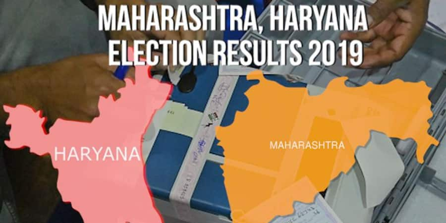 Maharashtra Haryana election result Live updates of fate of 2 states BJP Congress NCP Shiv Sena JJP