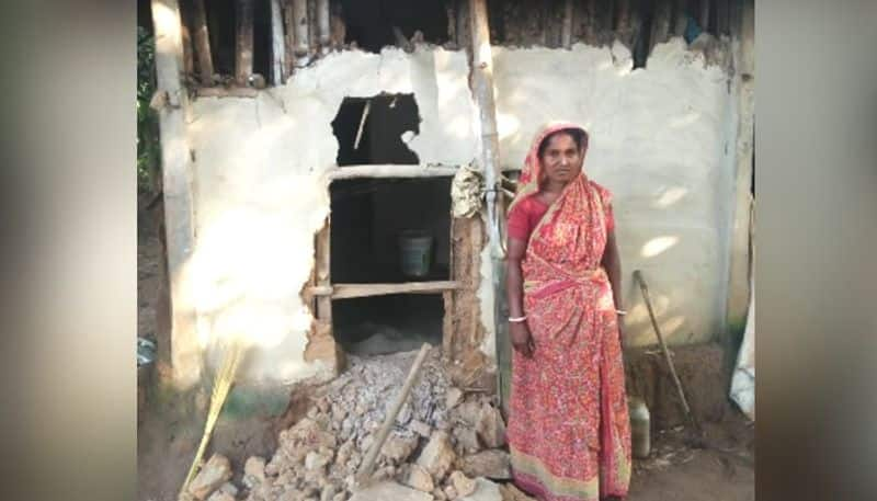Elephants smashes homes after getting drunk in West Midnapore