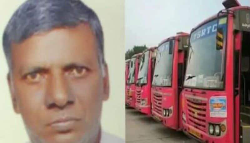 RTC Strike: driver krishnaiah goud died due to Heart attack in polamuru