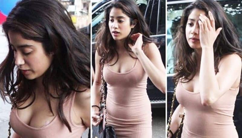 Janhvi Kapoor receives vulgar comments for wearing nude colour body-hugging dress