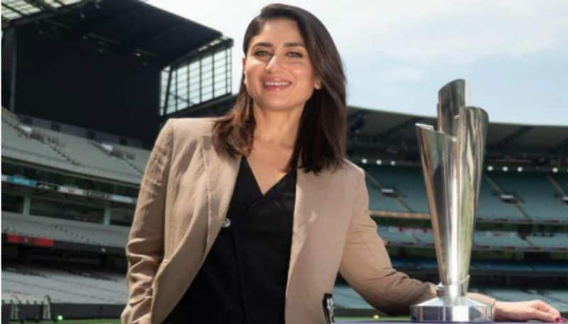 Bollywood actress Kareena Kapoor unveiled the ICC T20 World Cup Trophy