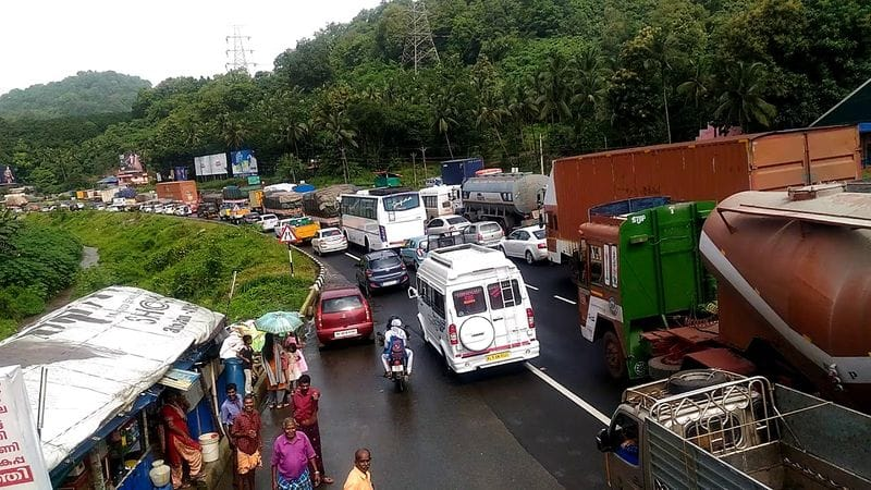 traffic blocks are regular in kuthiran catering service employees travel 68 kilometer to cover distance of 5 kilometer