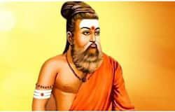 Thiruvalluvar in saffron