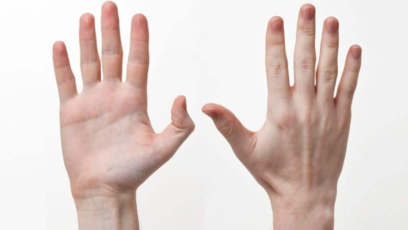 People recognize by the finger of a hand according to palmistry