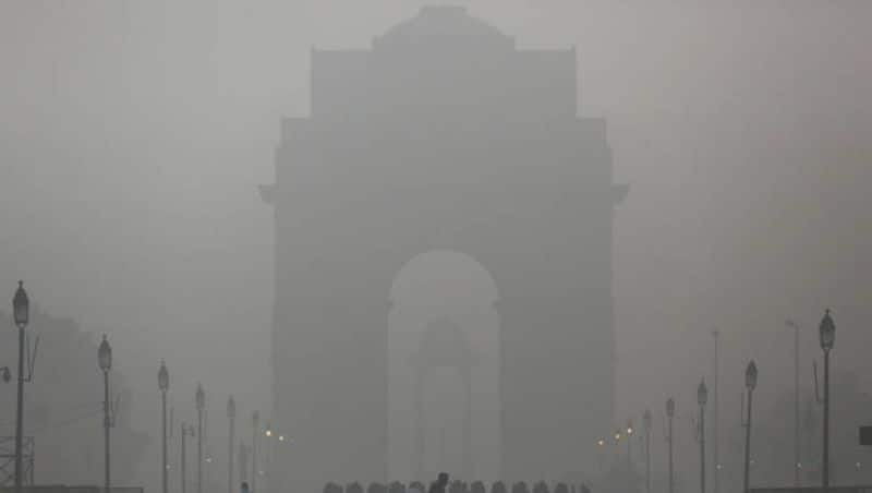 Delhi air pollution Schools reopen after extended Diwali students wear masks