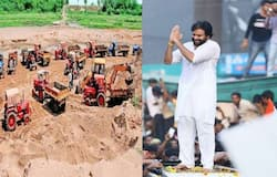 pawan long march on sand shortage