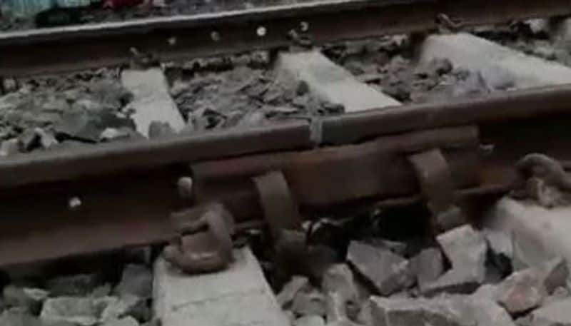 People save a local train from accident in Khardaha