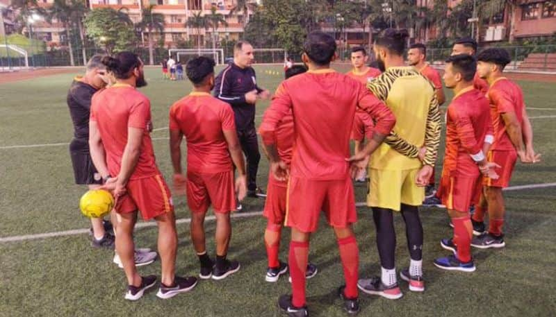 Indian Football team starts practice in artificial turf for Afghanistan match