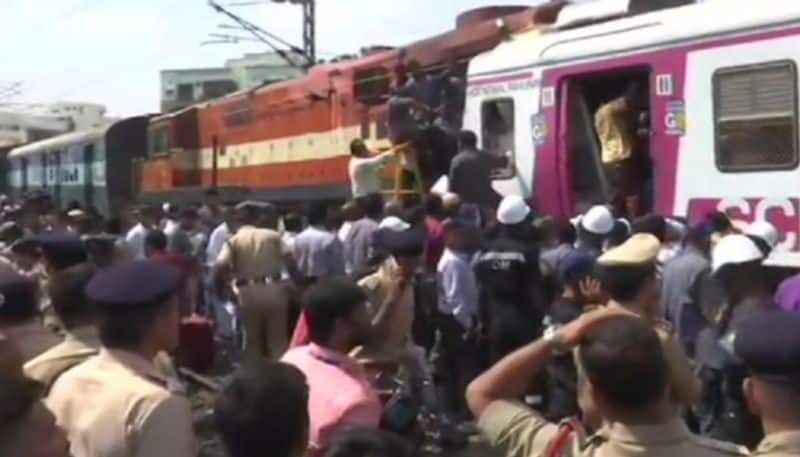 Two trains collided in the Kacheguda Railway Station in Hyderabad on Monday