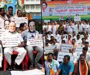 BJP hits out at Congress over protest against Centre's policies