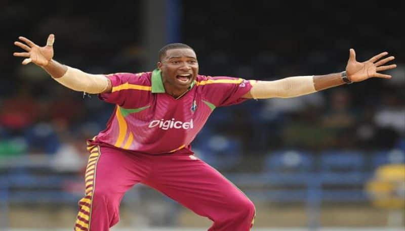 Pollard makes fun with umpire during West Indies Afghanistan match