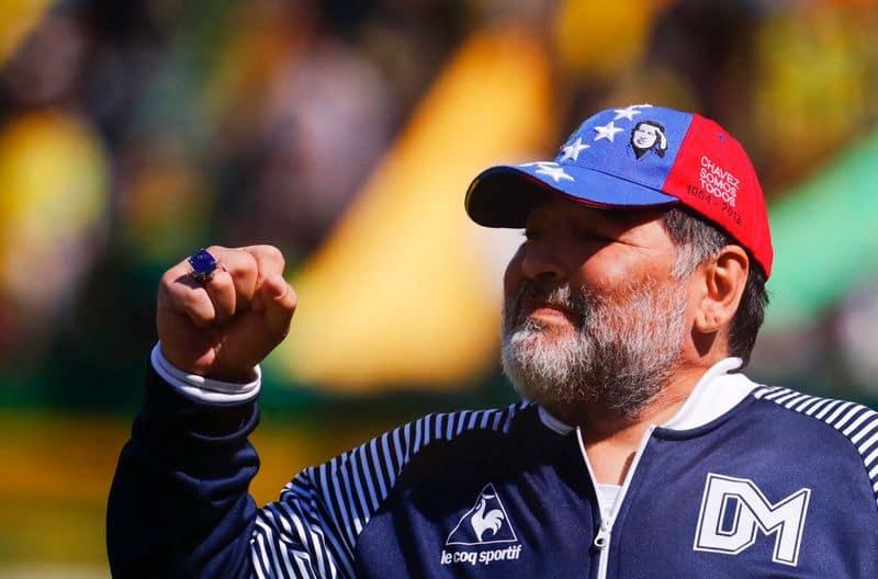 Diego Maradona celebratory dance in teams dressing room