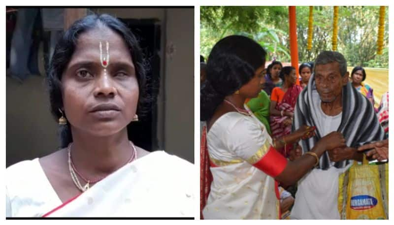 A domestic help from Goghat provided lunch and new garments to the poor