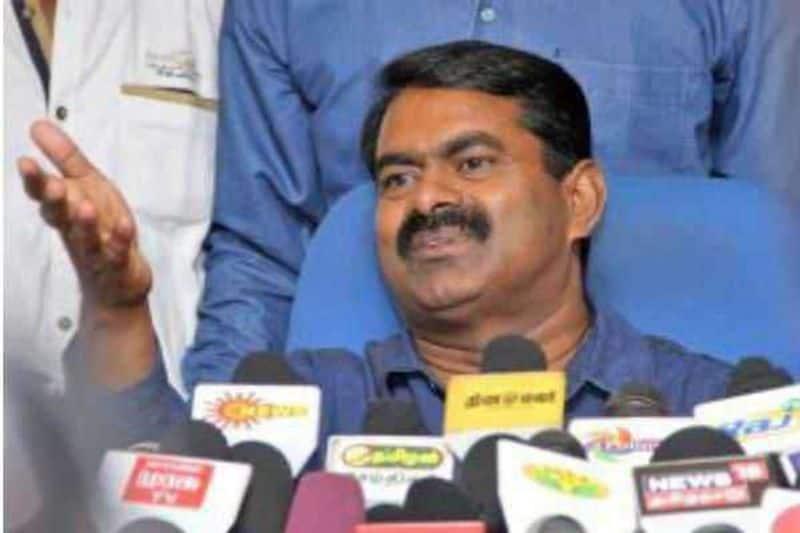 namtamilar party coordinator seeman byte regarding onion and local body election
