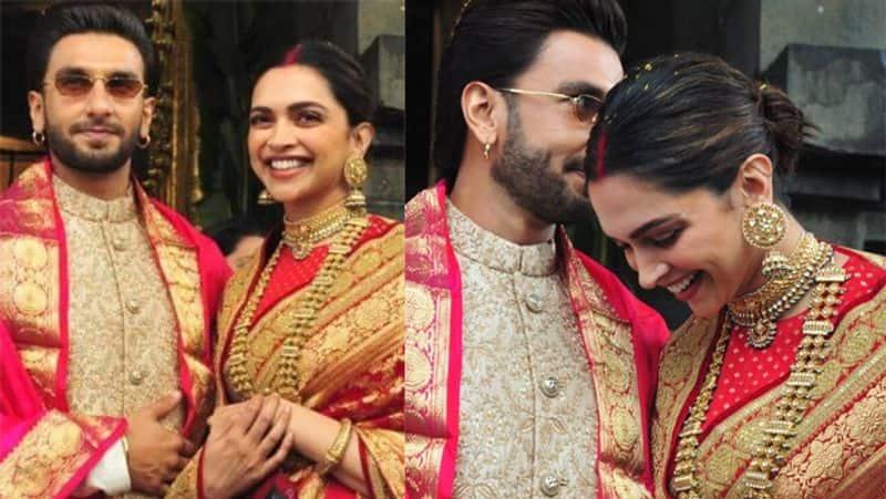 Deepika Parukone and Ranveer shing at Venkateswara Temple on their  wedding anniversary