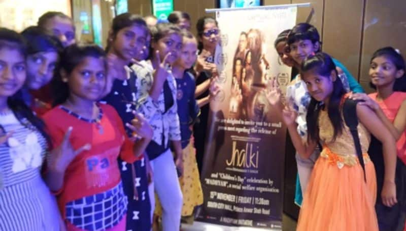 Childrens gathered for the release of film Jhalki as it said no to child labour