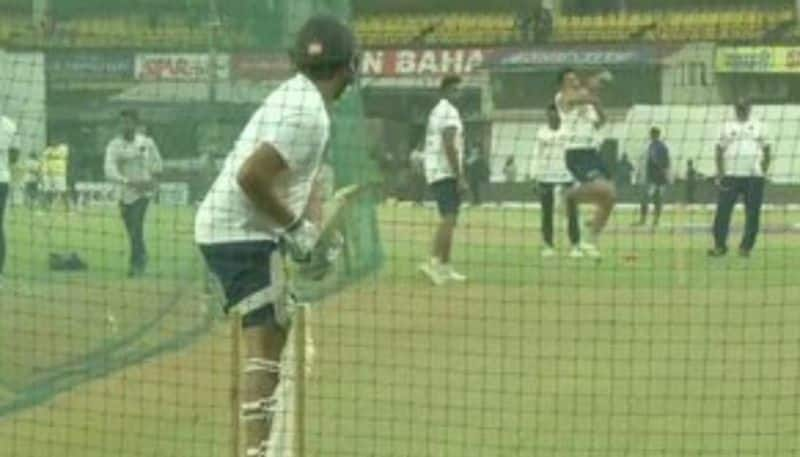 Indian Team starts practices with Pink ball after seconds days play at Indore