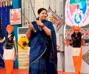 A video of Smriti Irani dances with swords at a cultural programme goes viral