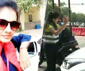 Female student creates awareness with dance in traffic signals in Indore caught in viral video