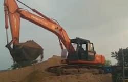 Illigal sand transportaion at krishna district