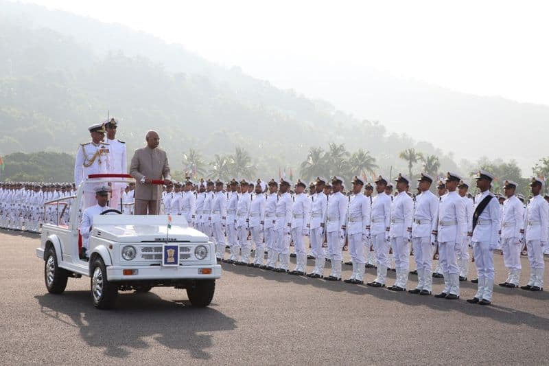 Indian Naval Academy awarded President's Colour in Kerala
