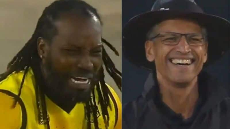gayle crying appeal to umpire makes laugh the whole stadium video