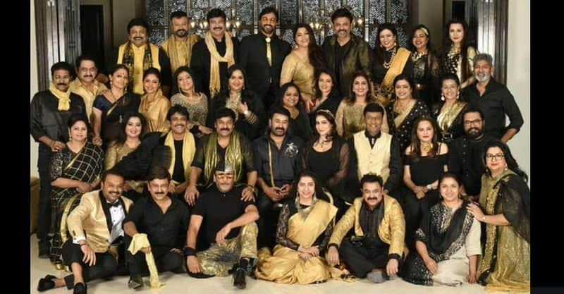 reunion of south indian film stars in 80s