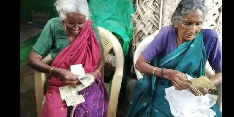 demonetized 500 and 1000 rupee notes were saved by two grandmothers in tirupur