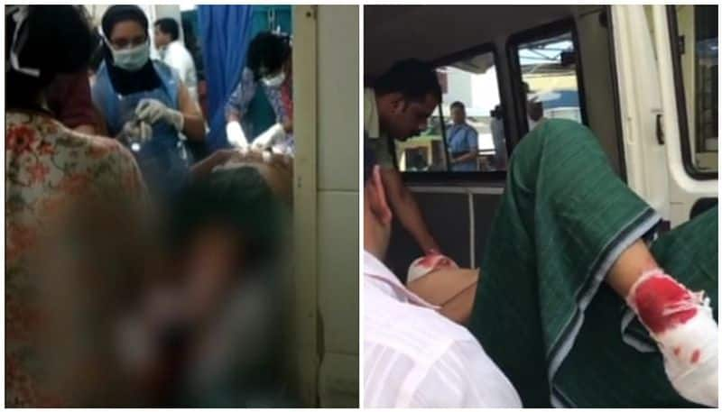 youth injured in police attack at kollam