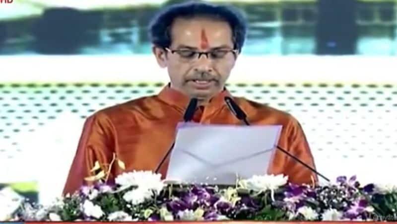 Uddhab Thackeray takes oath as Chief Minister of Maharashtra