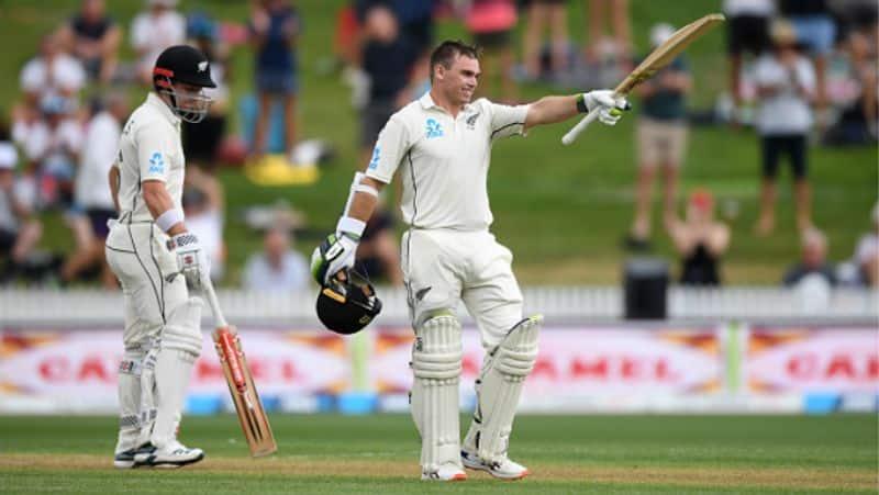 new zealand batsman tom latham century in second test against england