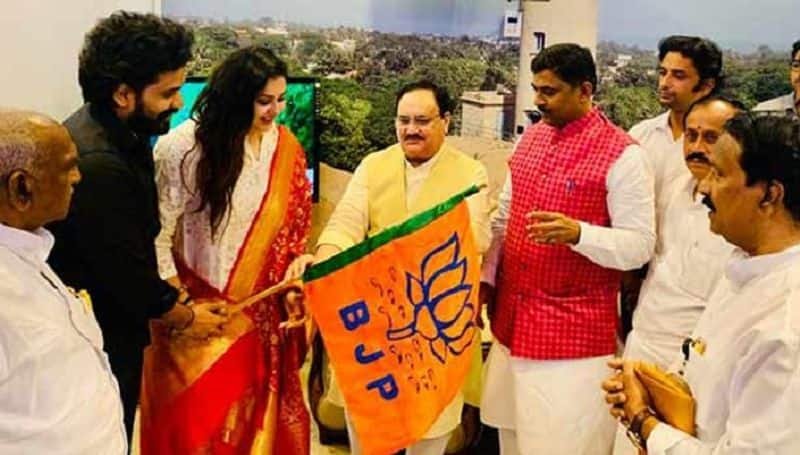 Actress Namitha Joined in BJP