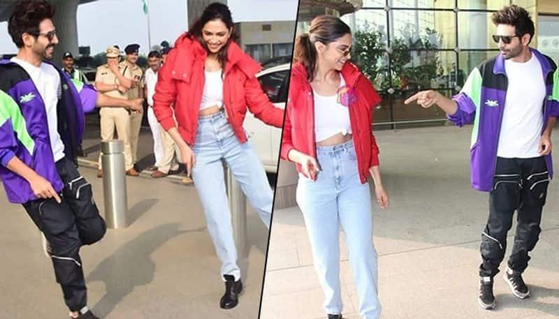 Here's what Deepika Padukone, Kartik Aaryan were doing at Mumbai Airport (Video)