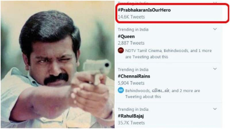 prabhakaran hastag trends in twitter